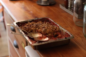 strawberry rubarb crisp